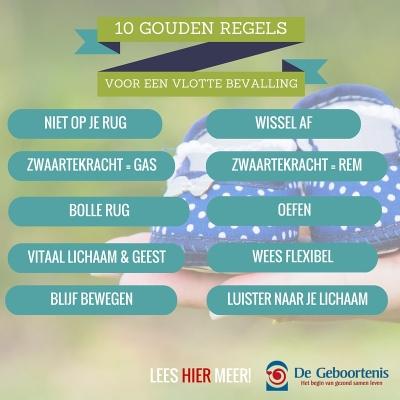 10 Gouden Regels voor een vlotte bevalling (1)